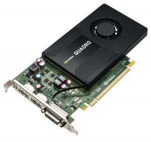 XENON NVIDIA Quadro K2200 3qtr