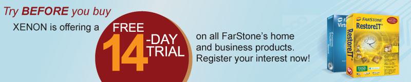XENON Farstone advantages chart free 14 day trial