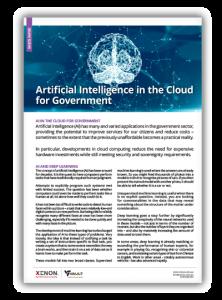 XENON AI in the Cloud for Govt White Paper