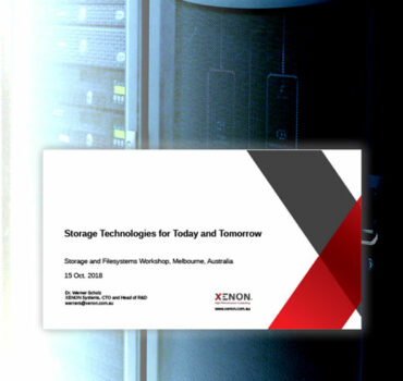 XENON Storage Technologies for Today and Tomorrow banner