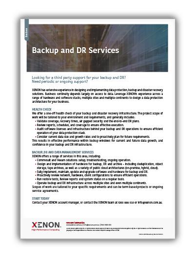 XENON Backup and DR Services thumbnail