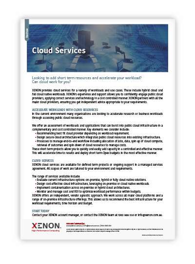 XENON Cloud Services thumbnail