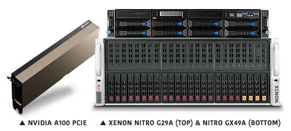 XENON NVIDIA A100 Nitro G29 Nitro GX49A banner